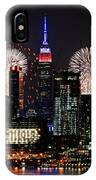 New York Skyline And Fireworks IPhone Case