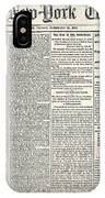 New York Times, 1864 IPhone Case