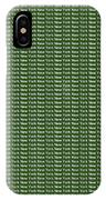 New York - White On Green Background IPhone Case