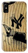 New York Yankees Baseball Team Vintage Card IPhone Case