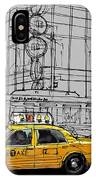 New York Yellow Cab IPhone Case