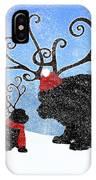 Newfie Reindeer IPhone Case