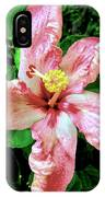Newly Opened Coral Hibiscus IPhone Case