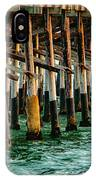 Newport Beach Pier Close Up IPhone Case
