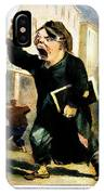 Newsboy Shouting, 1847 IPhone Case
