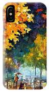 Night Autumn Park  IPhone Case