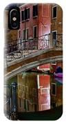 Night Bridge In Venice IPhone Case