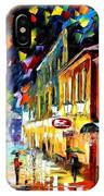 Night Etude - Palette Knife Oil Painting On Canvas By Leonid Afremov IPhone Case