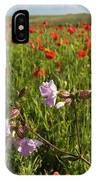 Night Flowering Catchfly And Poppies IPhone Case