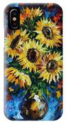Night Sunflowers IPhone Case