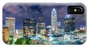 Night View Scenes Around Charlotte North Carolina IPhone Case