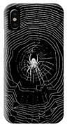 Nighttime Spider And Web IPhone Case