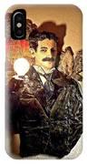 Nikola Tesla At Wardenclyffe IPhone Case