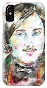 Nikolai Gogol - Watercolor Portrait IPhone Case