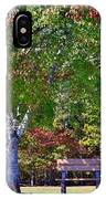 Ninety Six National Historic Site Bench In Autumn  IPhone Case