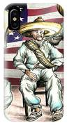 No Mexican Wall, Mister Trump - Political Cartoon IPhone Case