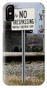 No Trespassing Sign IPhone Case