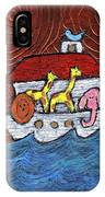 Noahs Ark With Blue Bird IPhone Case