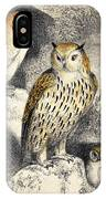Nocturnal Scene With Three Owls IPhone Case