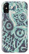 Nocturnal The Blue Owl IPhone Case