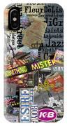 Nola Collage Art Shotgun House IPhone Case