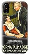 Norma Talmadge In The Probation Wife 1919 IPhone Case