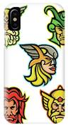 Norse Gods Mascot Collection IPhone Case