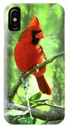 Northern Cardinal Proud Bird IPhone Case