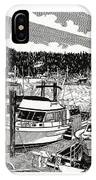 Gig Harbor Yacht Moorage IPhone Case
