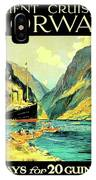 Norway Orient Cruises, Vintage Travel Poster IPhone Case
