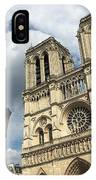 Notre Dame And Lamppost IPhone Case