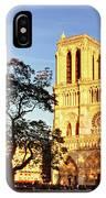Notre Dame De Paris Facade IPhone Case
