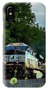 Ns 62w With Blurred Flowers IPhone Case