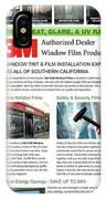 Nu-vue Window Films Infographics IPhone Case