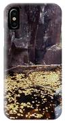 Nude Standing In A Leaf Pool  IPhone Case