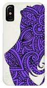 Nude Woman Silhouette Ultraviolet IPhone Case