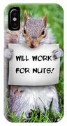 Nutty Squirrel IPhone Case