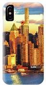 Nyc West Side Skyscrapers At Sundown IPhone Case