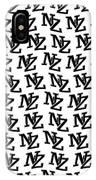 Nz New Zealand Black On White IPhone Case