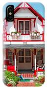 Oak Bluffs Gingerbread Cottages 2 IPhone Case