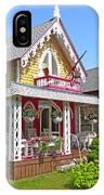 Oak Bluffs Gingerbread Cottages 3 IPhone Case