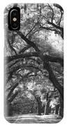 Oak Lined Drive Way, Coastal, South Carolina  IPhone Case