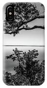 Oak On A Bluff - Black And White IPhone Case