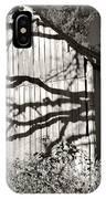 Oak Shadows On A Barn IPhone Case