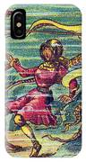 Octopus Attack, 1900s French Postcard IPhone Case