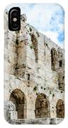 Odeon Stone Wall - Athens Greece IPhone Case