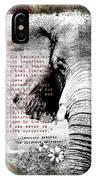 Of Elephants And Men IPhone X Case