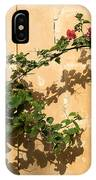 Of Light And Shadow - Bougainvillea On A Timeworn Plaster Wall IPhone Case
