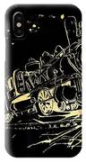 Off The Rails IPhone Case by Denise Tomasura