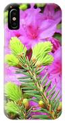 Office Art Pine Conifer Pink Azalea Flowers 38 Azaleas Giclee Art Prints Baslee Troutman IPhone Case